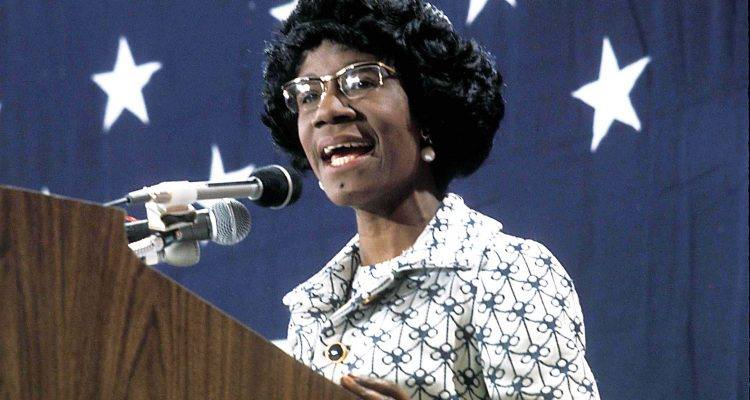 March 28, 1990- Shirley Chisholm