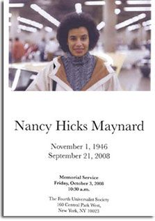 September 21 2008 – Nancy Alene Hicks Maynard