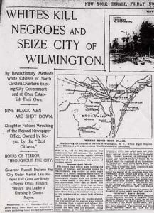 GM – FBF – Today's American Champion event was The Wilmington insurrection of 1898, also known as the Wilmington massacre of 1898 or the Wilmington coup of 1898, occurred in Wilmington, North Carolina, on Thursday, November 10, 1898