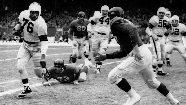 GM – FBF – Today's American Champion was an American professional football player who was a fullback and linebacker for the Cleveland Browns in the All-America Football Conference (AAFC) and National Football League (NFL).