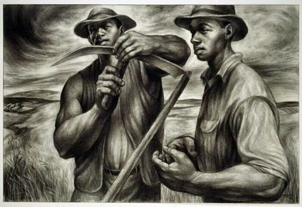 GM – FBF – Today's American Champion was an American artist known for his chronicling of African American related subjects in paintings, drawings, lithographs, and murals.